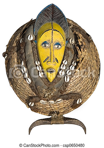 vindima, máscara, africano - csp0650480