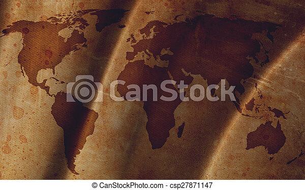 vindima, mapa, mundo - csp27871147