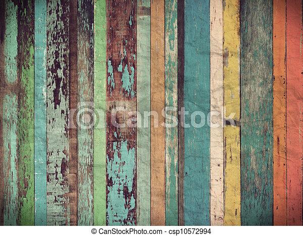 vindima, material, papel parede, madeira, fundo - csp10572994