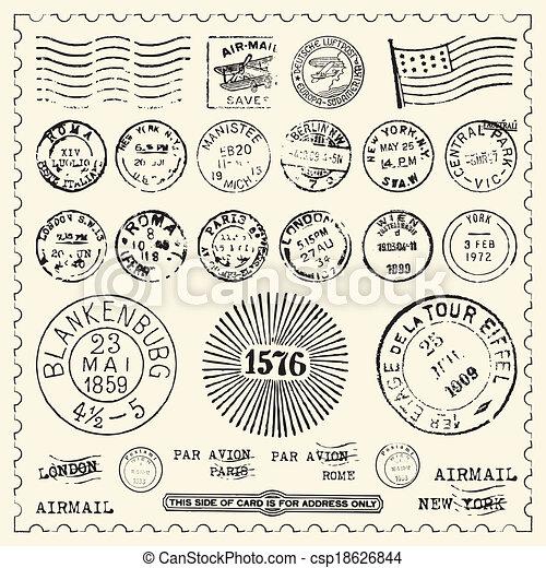 vindima, selos, jogo - csp18626844
