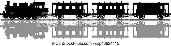 vindima, trem, vapor - csp43624415