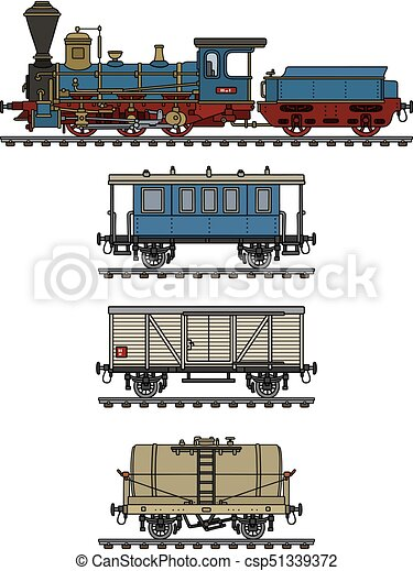 vindima, trem, vapor - csp51339372