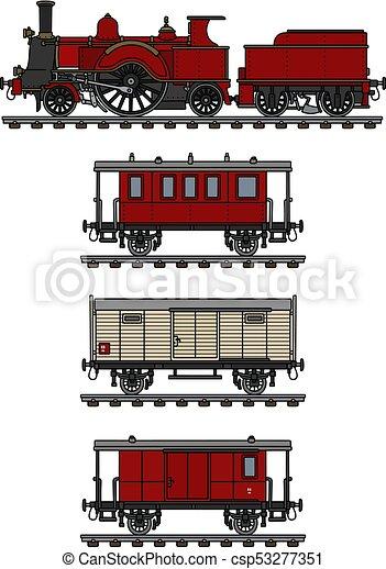 vindima, trem, vapor - csp53277351