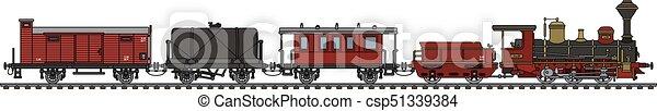 vindima, trem, vapor - csp51339384