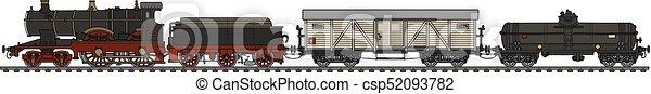 vindima, trem, vapor - csp52093782