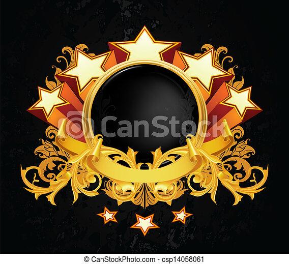 vindima, vetorial, emblema - csp14058061