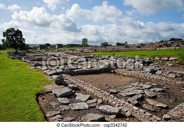 Vindolanda ruins - csp3342742