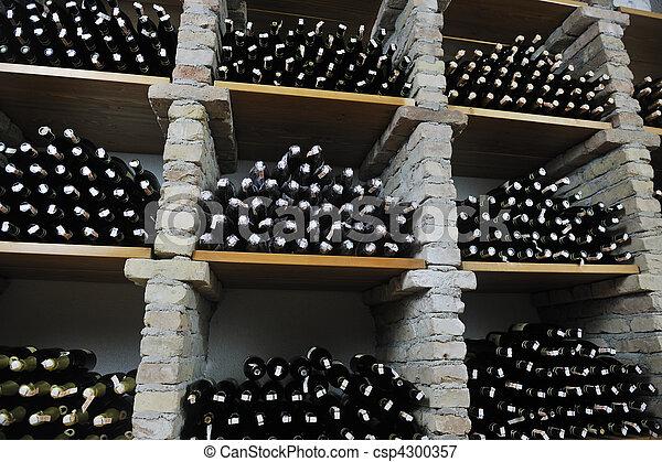 vine bottles  - csp4300357