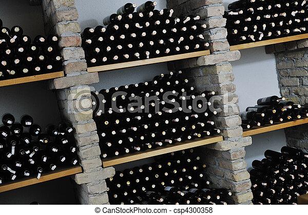 vine bottles  - csp4300358
