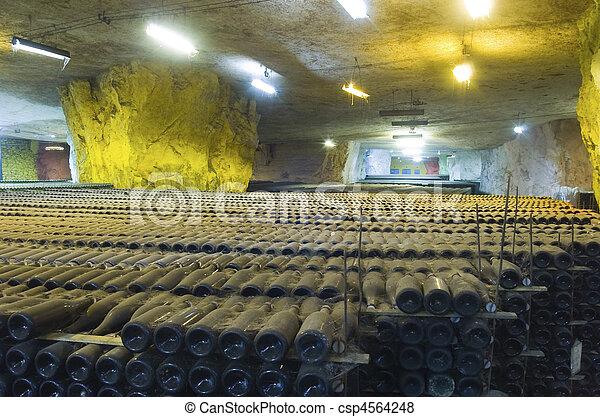 vine bottles - csp4564248