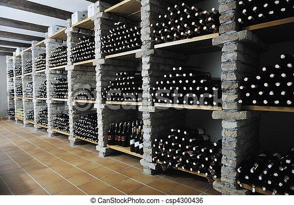 vine bottles  - csp4300436