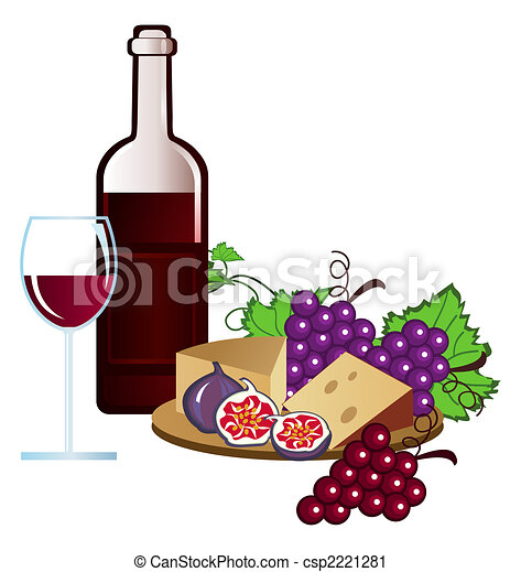 vineyard clip arts of wine fruits and cheese clipart search rh canstockphoto com Wine Bottle Clip Art french wine and cheese clipart