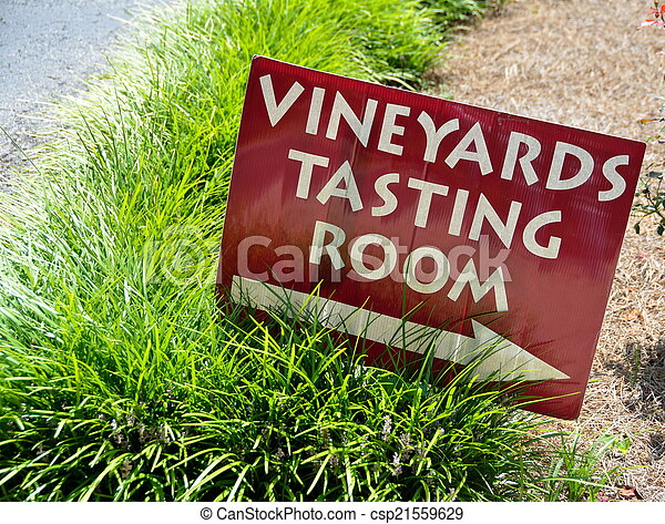 Vineyard Tasting Sign - csp21559629
