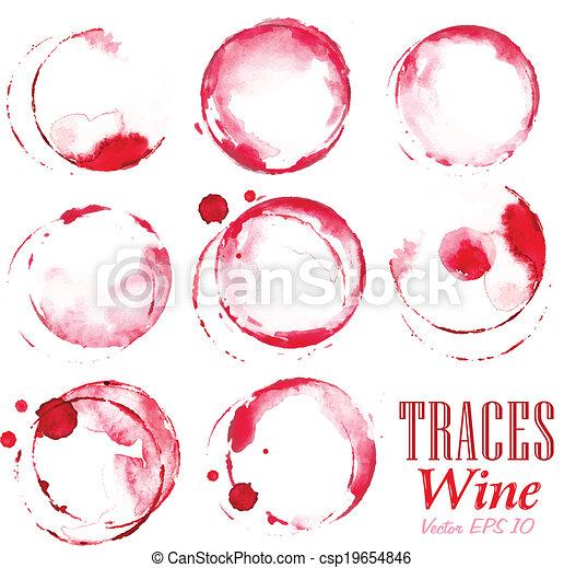 vinho, jogo, rastros, vermelho, marcas - csp19654846