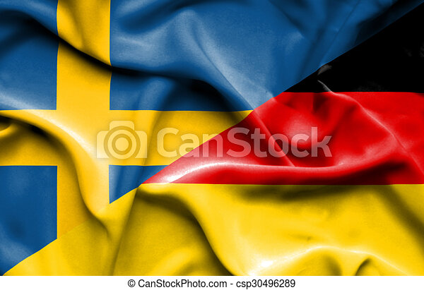 vinka sverige tyskland flagg vinkande flagg tyskland