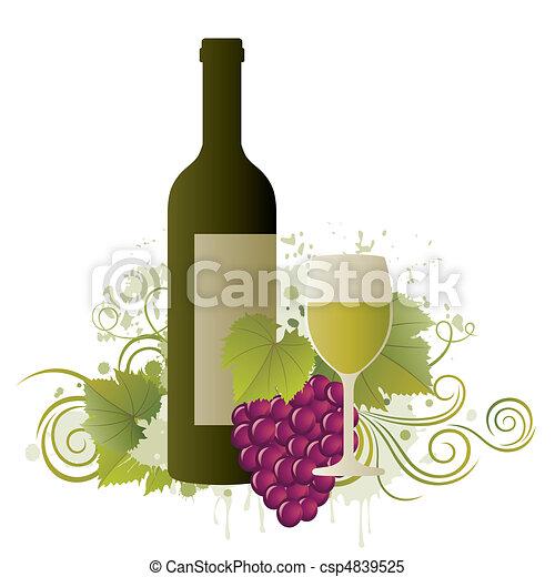 Diseño de vinos - csp4839525