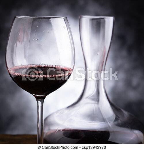 vino, rojo, saboreo - csp13943970