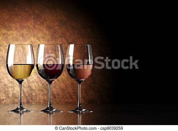 vino vidrio - csp9039259