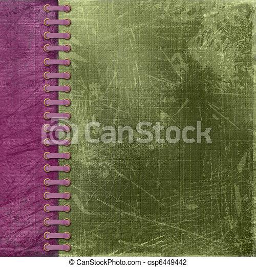 Vinous antique cover for album with photos - csp6449442