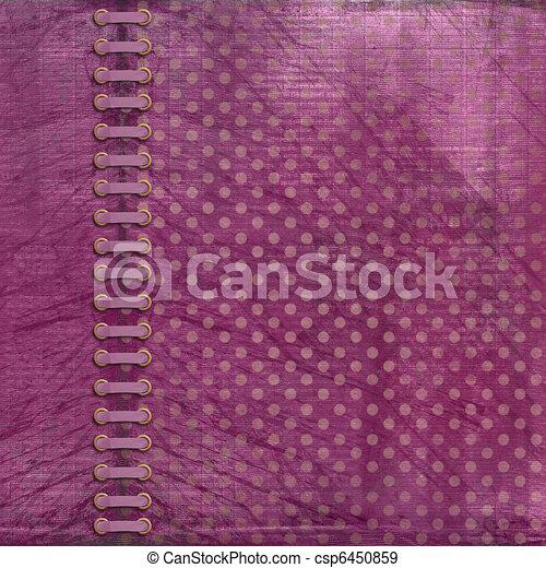 Vinous antique cover for album with photos - csp6450859