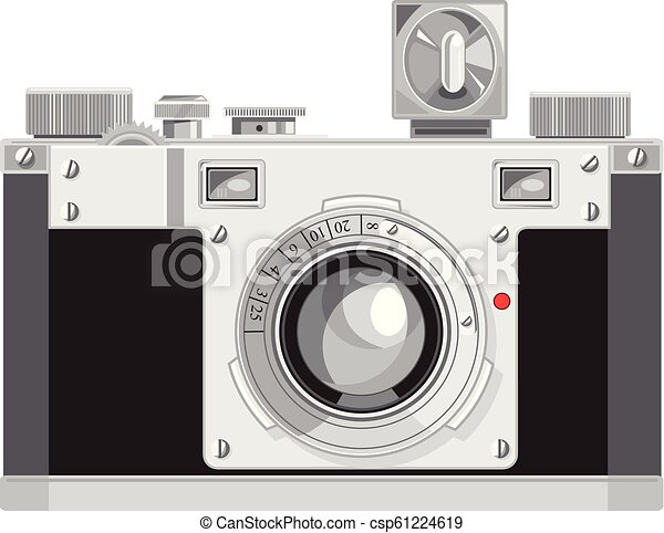Camera Vintage Vector Free : Vintage 35mm film camera retro style. retro style illustration of a
