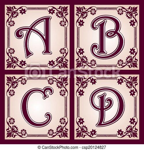 vintage ABC. Part 1 - csp20124827