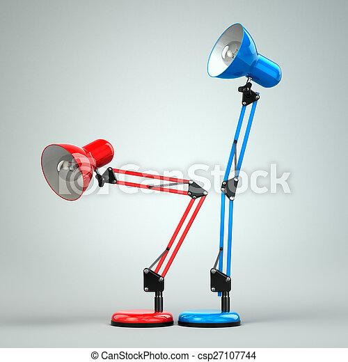 Vintage Adjustable Desk Lamps Simulate Sex.   Csp27107744