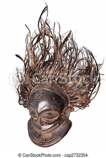 vintage african mask - csp2732354