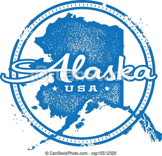 Vintage Alaska USA State Stamp - csp15512320
