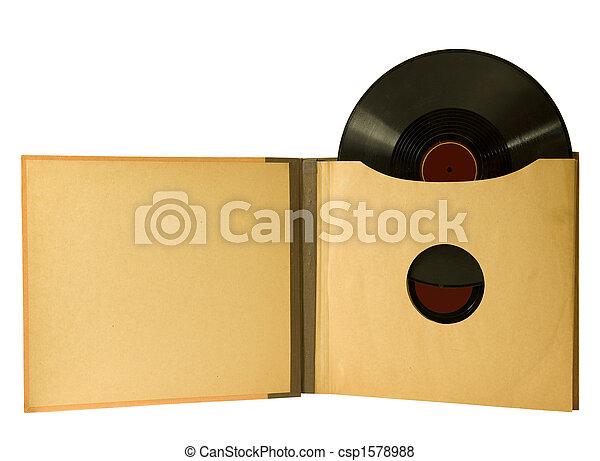 VINTAGE ALBUM WITH RECORDS - csp1578988