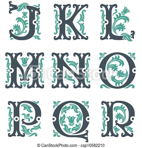 vintage alphabet. Part 2 - csp10582210