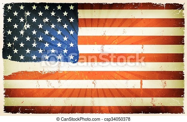 Vintage American Flag Poster Background
