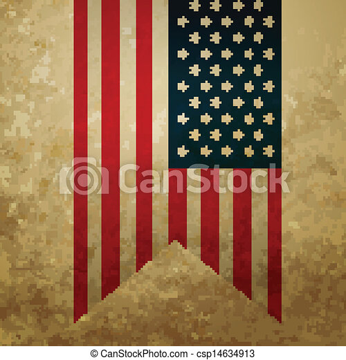 Vintage American Flag Style Vector Clip