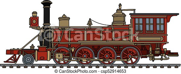 Vintage american steam locomotive - csp52914653