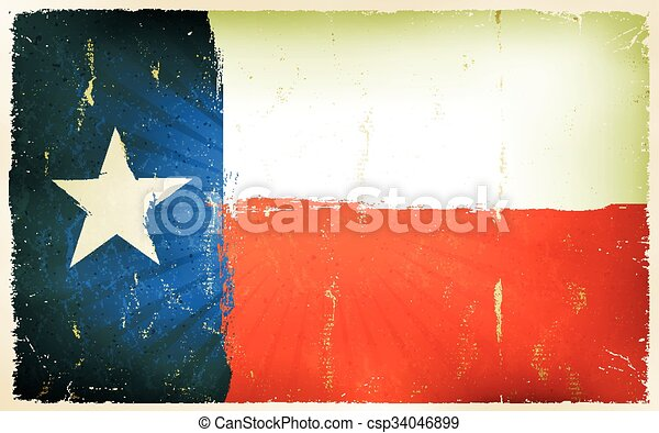 Vintage American Texas Flag Poster Background - csp34046899