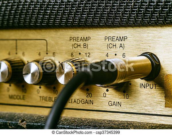 6 Vintage  Radio Guitar Amp Knobs