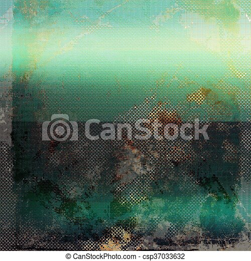 Vintage and retro design elements on faded grunge background. With different color patterns: yellow (beige); brown; green; blue; gray; cyan - csp37033632