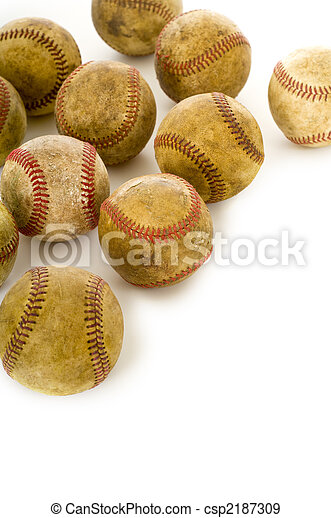 Vintage, antique baseballs - csp2187309