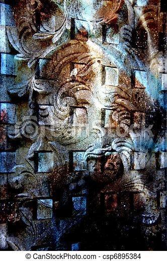 Vintage Architectural Background - csp6895384