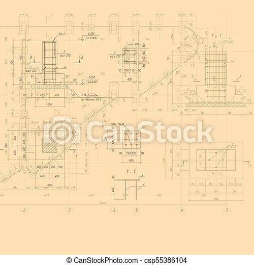 Vintage architectural blueprint vector background building drawing vintage architectural blueprint vector background malvernweather Gallery