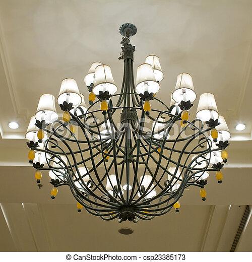 Vintage art deco ceiling lamp - csp23385173