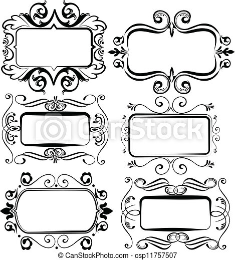 antique picture frames vector. Vintage Artistics Frames - Csp11757507 Antique Picture Vector D