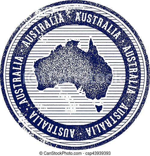 Vintage australia country tourism stamp. Vintage style ...