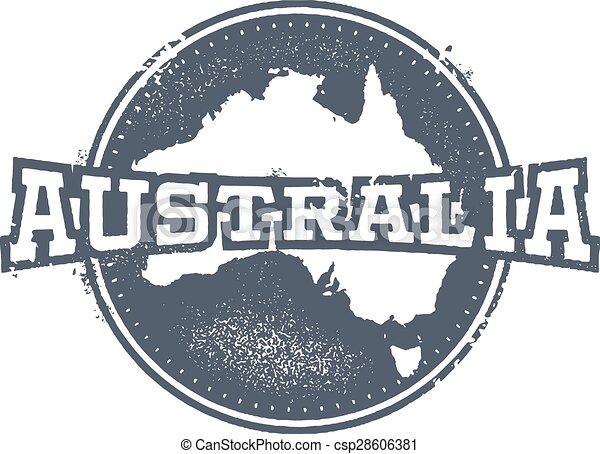 Vintage Australia Stamp - csp28606381