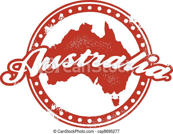 Vintage Australia Stamp - csp8695277