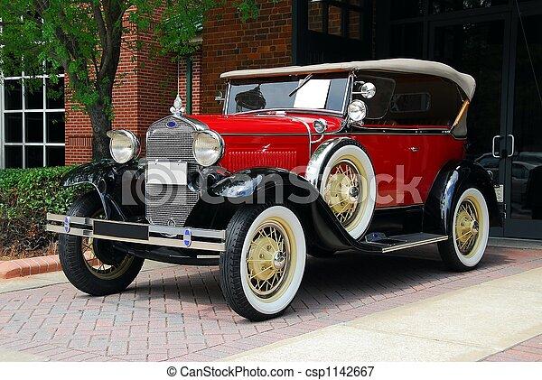 vintage automobile - csp1142667