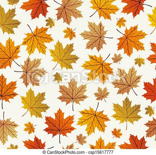 Vintage Autumn Leaves Seamless Pattern Background Eps10 File