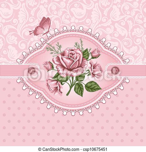 vintage background pink romantic floral background with vintage roses