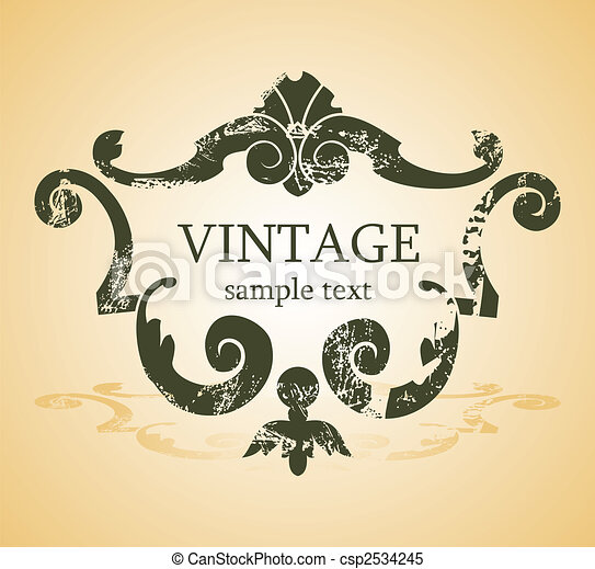 vintage background - csp2534245