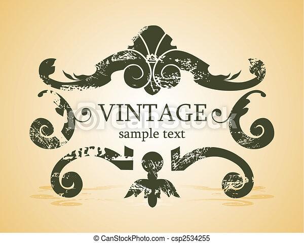 vintage background - csp2534255